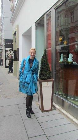 Julius Meinl am Graben: Вход в кафе