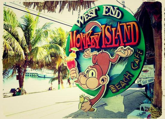 Monkey Island Beach Cafe: Monkey Island :)