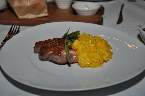 JW Marriott El Convento Cusco: El mejor plato...magret de pato con risotto de aji amarillo