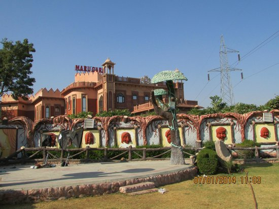 Marugarh Resort: The view of the hotel...