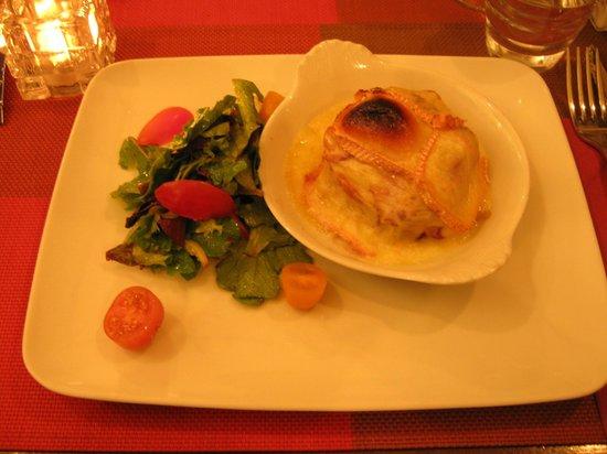 L'Ange 20 Restaurant : Insalata con petto di anatra e formaggio