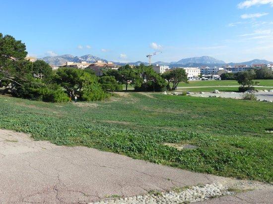 Adagio Marseille Prado Plage : Пляж около отеля