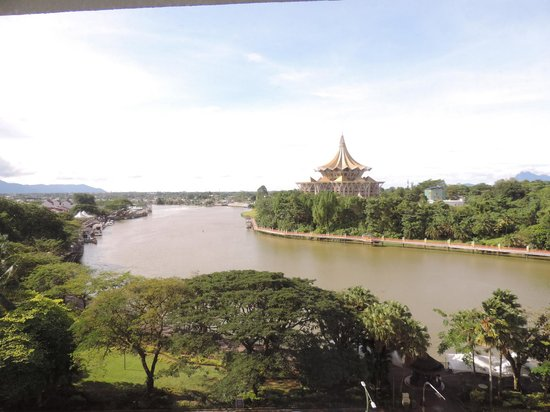 Hilton Kuching: View of waterfront from Hotel room