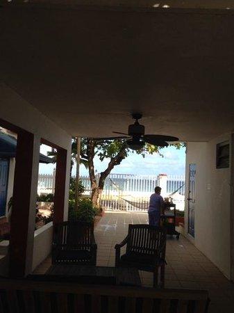 Tres Palmas Inn: vista abriendo la puerta del cuarto