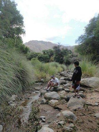 La Paya: el rio a 500 metros del lugar