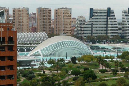 Tryp Oceanic: vanaf het dak van het hotel