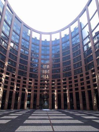 Parlement Européen : Внутренний дворик.