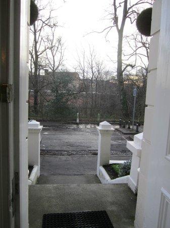 Embassy Apartments: view front door on Botanic Garden