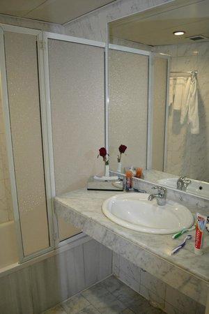 Addar Hotel : ванная с искусственным цветком