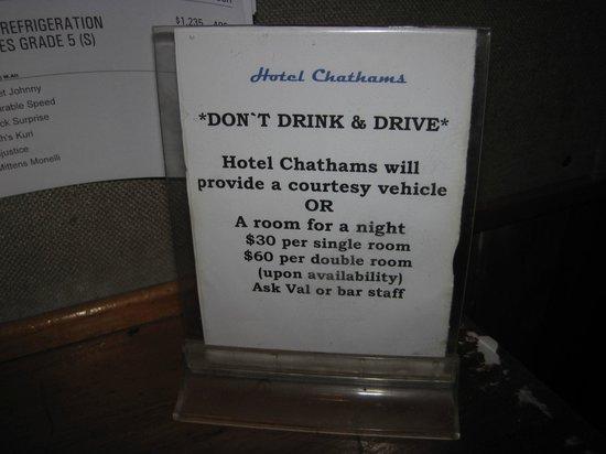 Hotel Chatham Public Bar