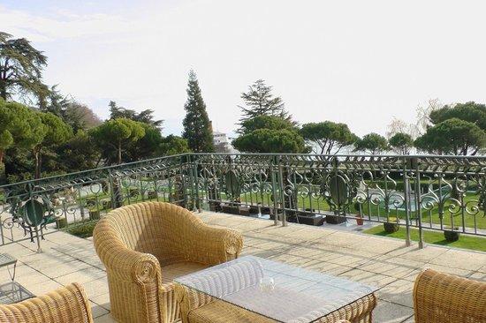 Beau-Rivage Palace: terrasse