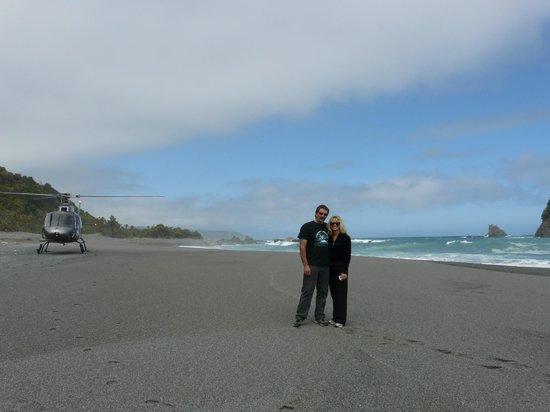 Heli Tours Queenstown: Remote west coast beach