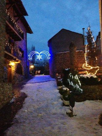 Hotel Casa Cornel: El patio interior adornado por Navidad