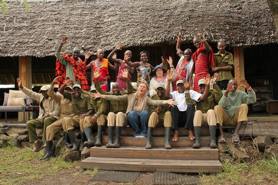 Naboisho Camp, Asilia Africa: a big thank you to the staff!