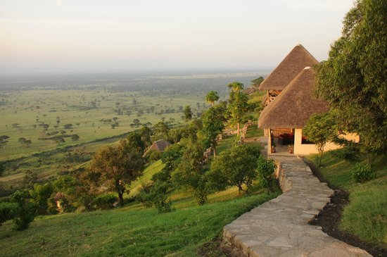 Enganzi Game Lodge: Blich in den QENP