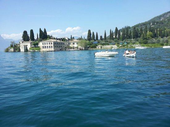 Locanda San Vigilio: Blick vom Boot