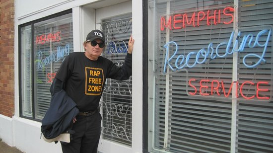 Rap Free Zone Guy Outside Sun Studios