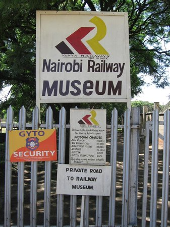 Nairobi railway museum: signs of the museum