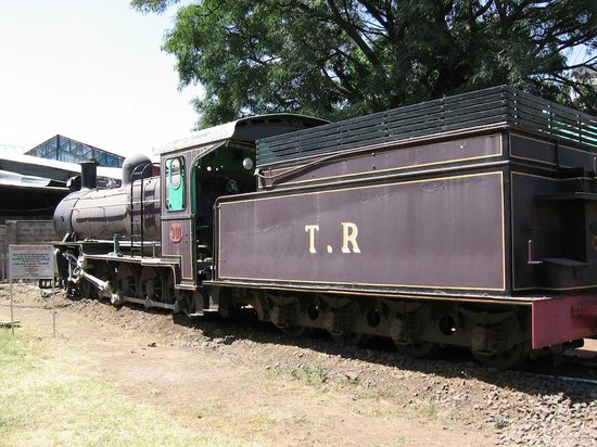 Nairobi railway museum: one of the engines