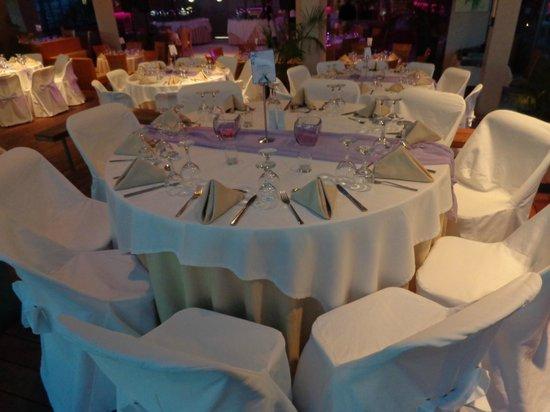 Palace Hotel Bomo Club : Table de mariage