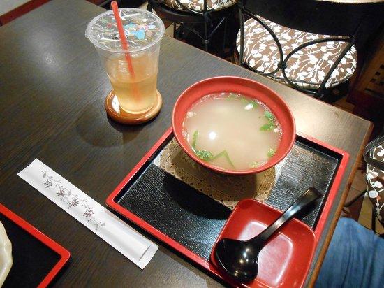 Meadowood Cafe: soup and tea