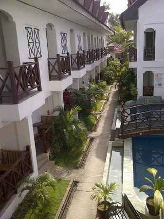 Nirvana Beach Resort - View from our 2nd flr Veranda