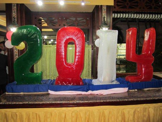ClubHotel Riu Merengue: Sculpture en glace pour la nouvelle ans