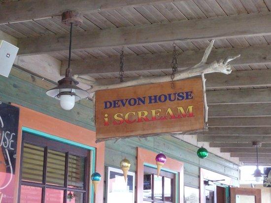 Devon House I-Scream: Sign