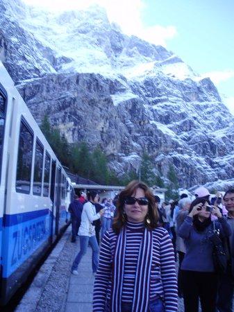 Zugspitze: Antes de entrar no túnel