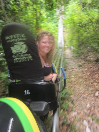 Rainforest Bobsled Jamaica at Mystic Mountain: Bobsled