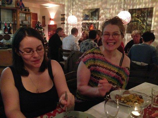 Old Iceland Restaurant : Gudrun, owner, joins her guests