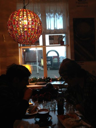 Old Iceland Restaurant : afternoon chess with mashed fish and meat soup