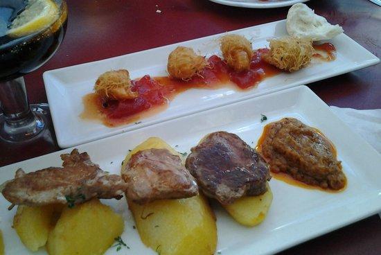Carmela : Tapas di gamberi con marmellata di pomodoro