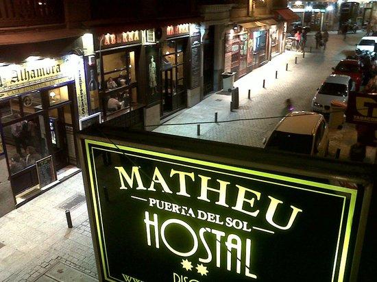 Hostal Matheu: night view