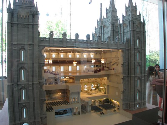 Salt Lake Temple: Scale cut away model of Temple