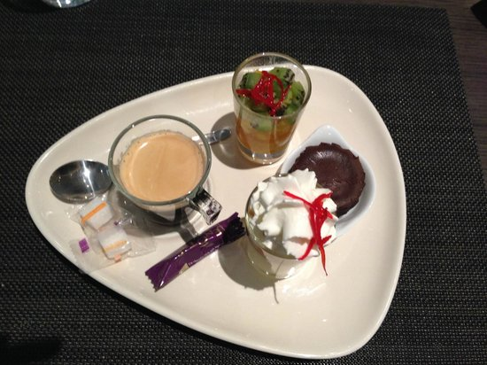 Novotel Paris Est: Dessert...I am not a chocolate fan so I did not like it too much!