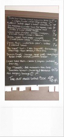 Made by Jonty: Lunch menu.