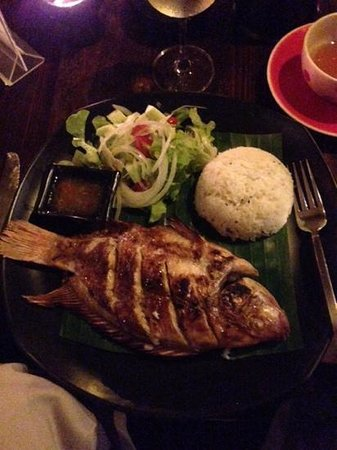Luna Lounge Thong Nai Pan Noi: grilled red snapper