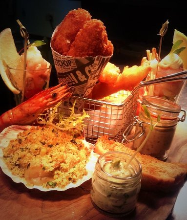 twin farms: Trawler-mans  sharing board.