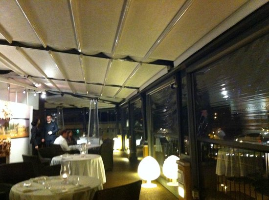 Fortyseven Hotel Rome : The Circus dining room at night in the winter
