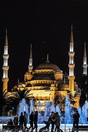 Bitinya Day Tours : Sultanahmet Camisi / A night view of Blue mosque