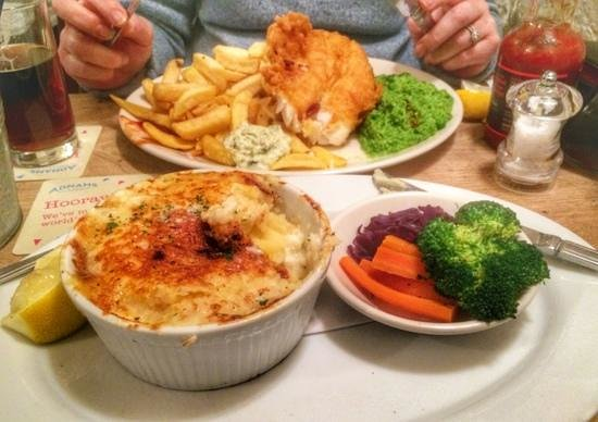 The Bell Inn: Fish Pie and Cod & Chips
