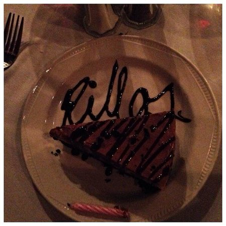 Rillo's: Peanut butter pie and a candle for my birthday