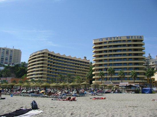 Melia Costa del Sol: La vue de l'hôtel de la plage