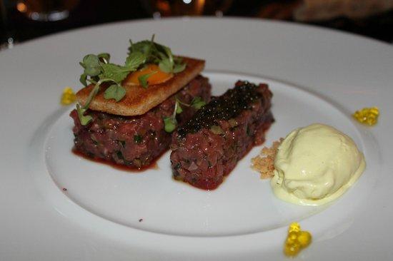 Caelis: Beef tartar with Baeri Caviar