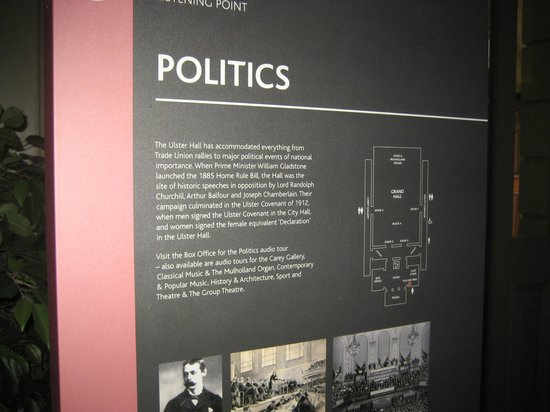Ulster Hall: Politics