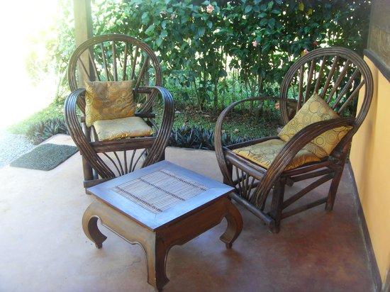 La Pepita de Maranon: La veranda della camera quadrupla