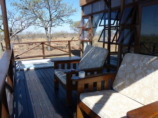 Jamila Game Lodge: unsere Terrasse