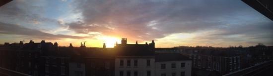 Premier Inn York City (Blossom St South) Hotel: sunrise from the room