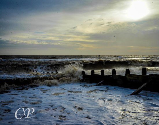 Southwold Pier: Southword beach by the peir in Jan by cracknell photography